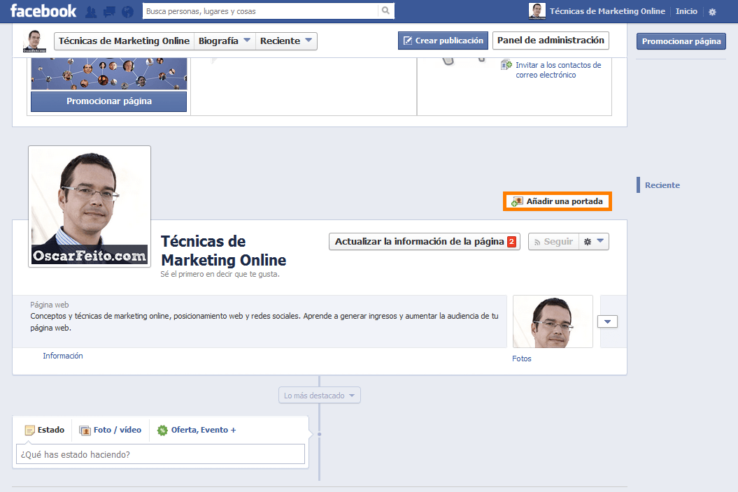 crear fan page facebook