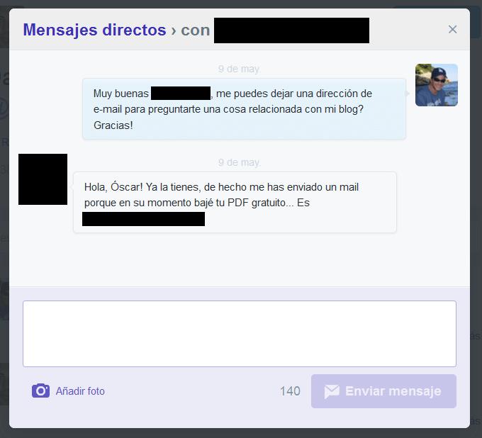 Contactar Los Fans De Twitter