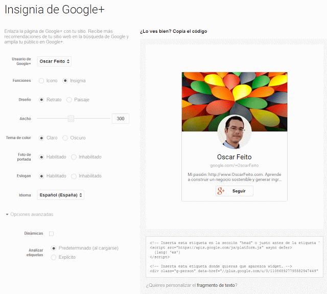 Caja de Google Plus