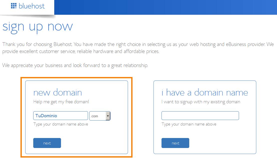 como comprar dominio