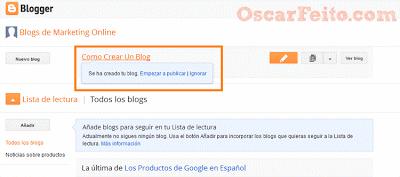 Como Crear Un Blogger