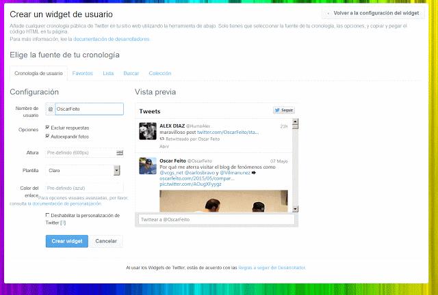 Caja de Twitter
