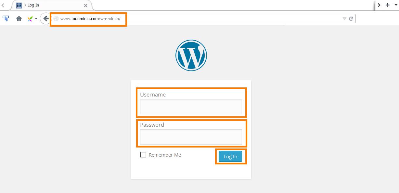 Entrar Con Una Cuenta En WordPress